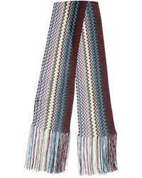 Missoni Mini Schal Aus Strick Mit Fransen - Mehrfarbig