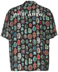Palm Angels Рубашка Боулинг С Принтом - Черный