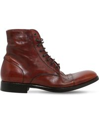 Rolando Sturlini Washed Leather Boots - Brown
