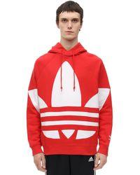 "adidas Originals Hoodie Aus Fleece ""big Trefoil"" - Rot"