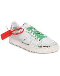 "Off-White c/o Virgil Abloh Ledersneakers ""graffiti 2.0"" - Weiß"