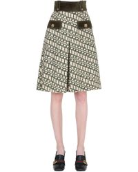 Gucci - Printed Wool Shorts W/ Suede Details - Lyst