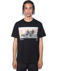 Marcelo Burlon Easy Rider コットンジャージーtシャツ - ブラック