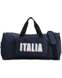 EA7 Team Italia Official ジムバッグ - ブルー