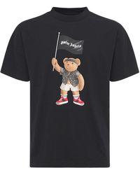 Palm Angels - T-shirt Aus Baumwolljersey Mit Druck - Lyst