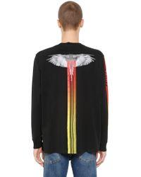 """Marcelo Burlon - T-shirt """"motocross Wings"""" In Jersey - Lyst"""