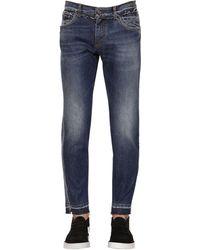 Dolce & Gabbana Jeans In Denim Con Stampa Logo - Blu