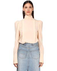Givenchy Шелковая Блузка Из Крепа - Розовый