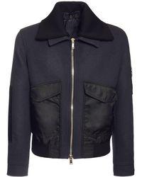 Versace Jacke Aus Wolle Und Nylon - Blau