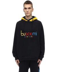 Buscemi ダブルフード コットンスウェット - ブラック