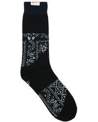 Sacai Leo & Bandana Cotton Blend Socks - Black