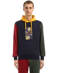 BBCICECREAM - Hooded Omega Printed Cotton Sweatshirt - Lyst