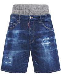 DSquared² Summer Twin Pack デニムハーフパンツ 36cm - ブルー