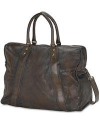 Numero 10 Reisetasche Aus Leder - Grau