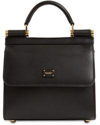 Dolce & Gabbana 58 レザートップハンドルバッグ - ブラック