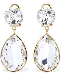 Shourouk Crystal Drop Earrings - Multicolour
