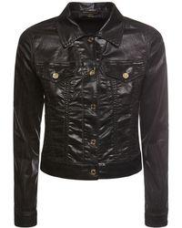 Dolce & Gabbana Куртка Из Денима С Ламинированной Поверхностью - Черный