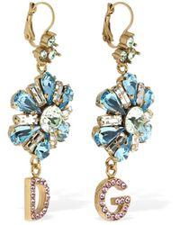 Dolce & Gabbana - D&g Blooming Flower クリスタルピアス - Lyst