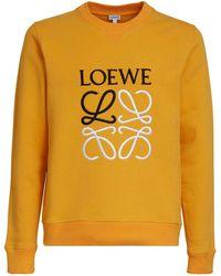 Loewe - Anagram コットンスウェットシャツ - Lyst