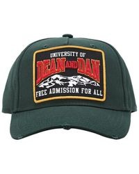 DSquared² Mountain Patch Canvas Baseball Hat - Green