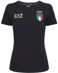 EA7 Italian Olympic Team T-shirt - Blue