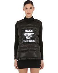MAKE MONEY NOT FRIENDS Gilet In Cotone Con Logo - Nero
