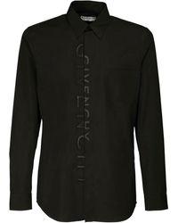 Givenchy - Baumwollhemd Mit Logostickerei - Lyst