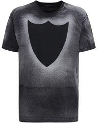 Htc Los Angeles Htc Logo Cotton Crewneck T-shirt - Black