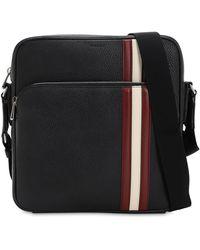 Bally - Logo Stripe Leather Messenger Bag - Lyst