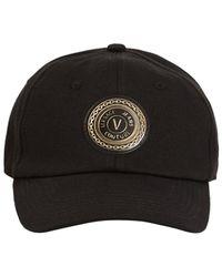 Versace Jeans Couture Logo Patch Baseball Cap - Black
