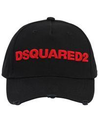 DSquared² Logo Cotton Canvas Baseball Hat - Black