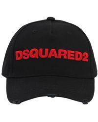DSquared² Cappello Baseball In Tela Di Cotone Con Logo - Nero