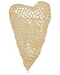 Maison Margiela Heart Crochet Pin - Metallic