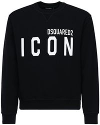 DSquared² コットンジャージースウェットシャツ - ブラック