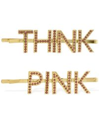 Bijoux De Famille Think Pink ダブルヘアクリップ - ピンク