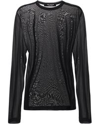 Junya Watanabe Sheer Cupro Jersey Top - Black