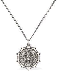 Saint Laurent - Lion Medallion ネックレス - Lyst