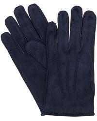 Mario Portolano Suede Gloves - Blue