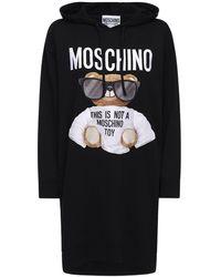 Moschino Bear コットンニットドレス - ブラック