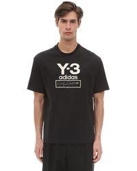 Y-3 Gestapeltes Logo T-Shirt - Schwarz