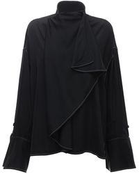 Ellery Over-the-top サテンシャツ - ブラック