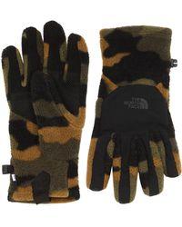 The North Face Denali Etip 迷彩柄手袋 - ブラック