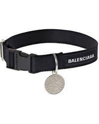 Balenciaga Choker Avec Pièce Logo - Noir