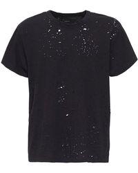 Amiri T-shirt Aus Baumwolle Im Destroyed-look - Schwarz