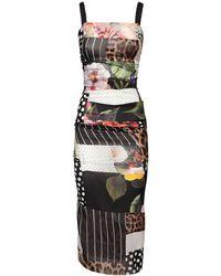 Dolce & Gabbana - Patchwork シフォンジョーゼットドレス - Lyst