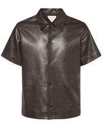 Bottega Veneta - Рубашка Из Кожи С Короткими Рукавами - Lyst