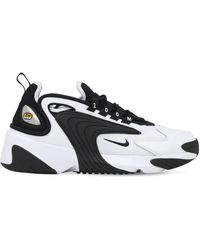 Nike Zoom 2k Sneakers Aus Leder Und Mesh - Schwarz