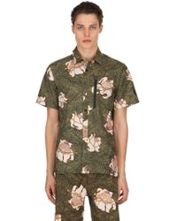 Nike - Lab Floral Cotton Short Sleeve Top - Lyst