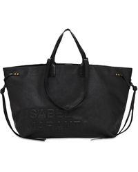 Isabel Marant Wydra Logo Embossed Tote Bag - Black