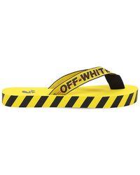 "Off-White c/o Virgil Abloh Flipflops ""industrial Belt"" - Gelb"